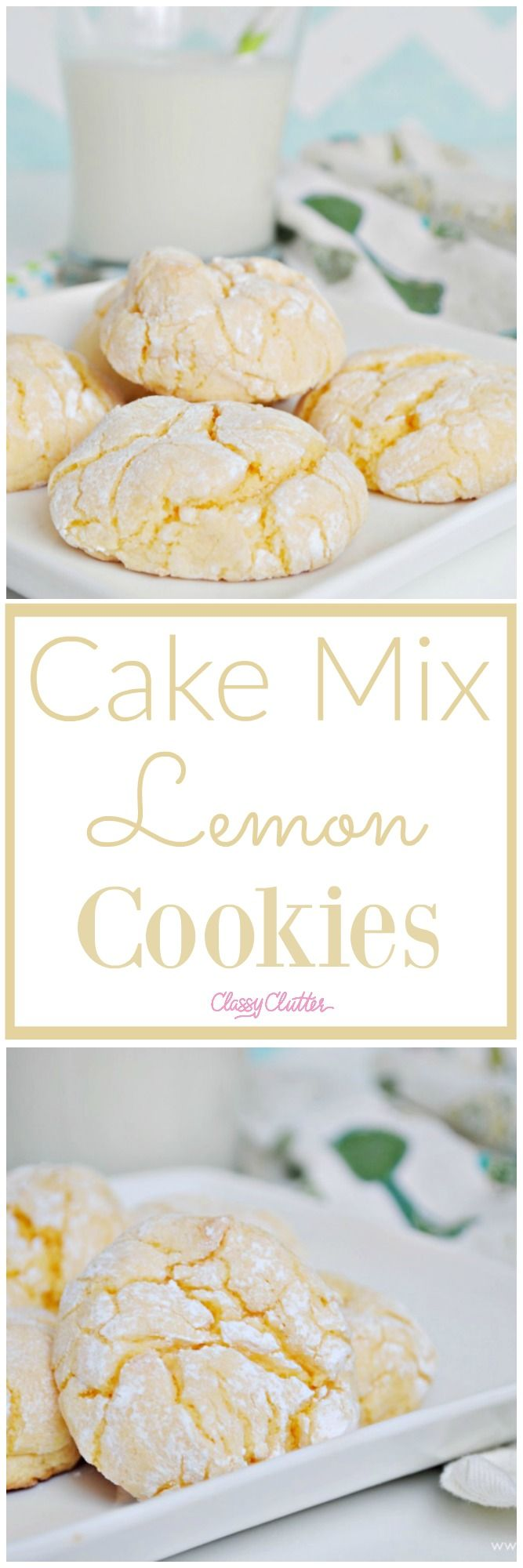 These Cake Mix Lemon Cookies are ridiculously easy and beyond delicious! YUM! Click for the recipe!