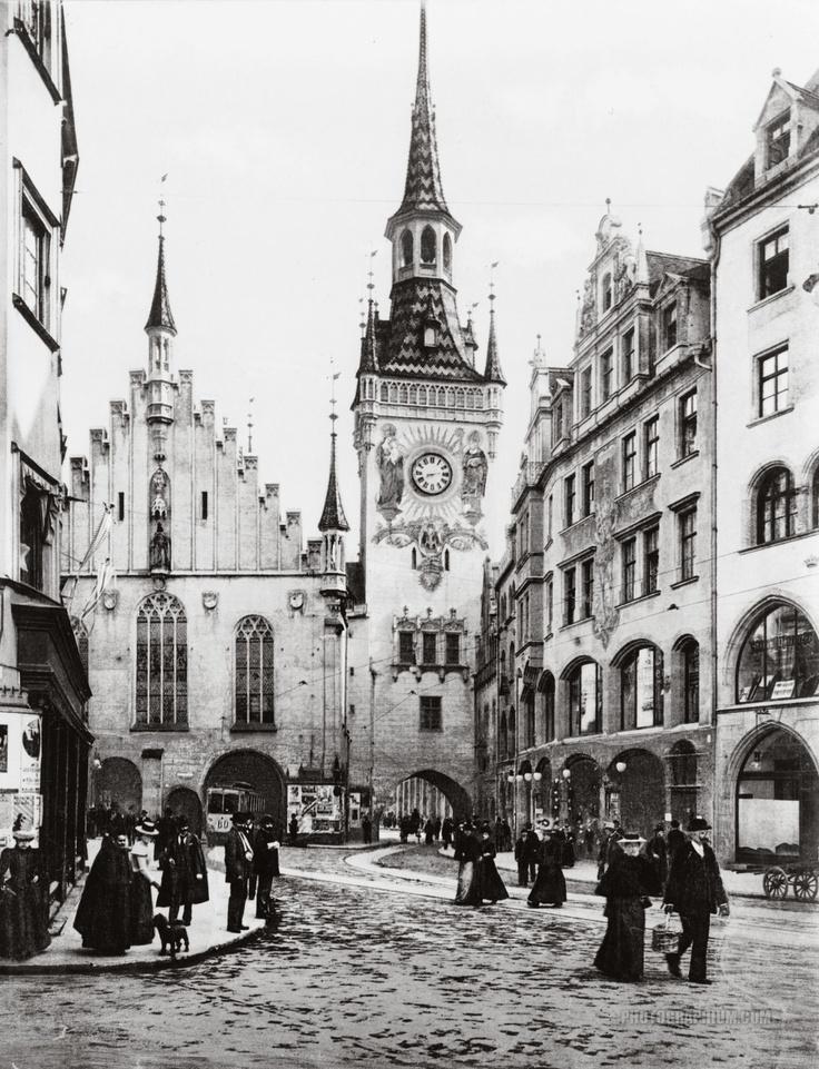 München. Altes rathaus.1890-1900