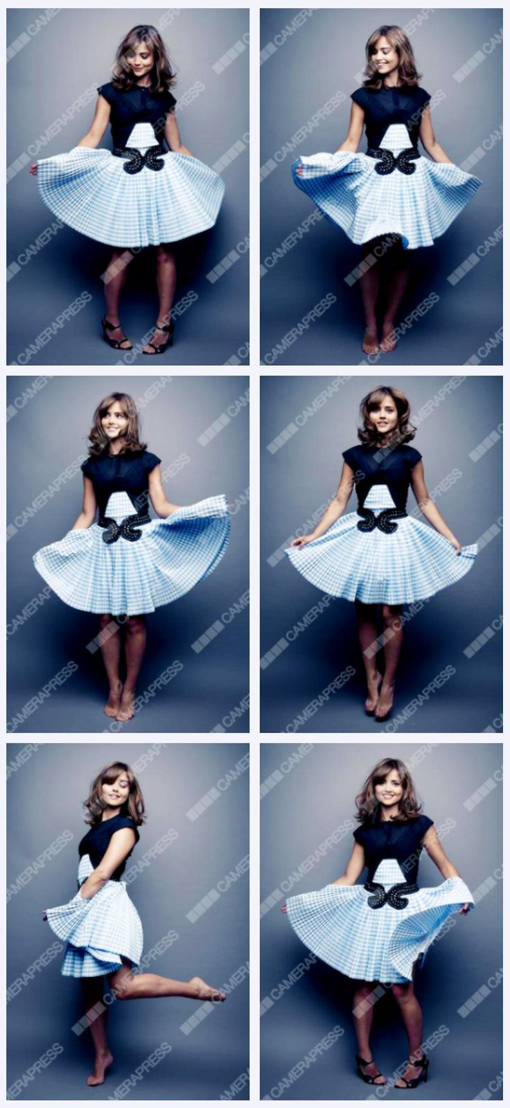 Jenna for Glamour UK.  Seriously, could she be any cuter??  And...TARDIS blue...how can the Doctor resist?