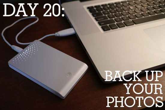 Day 20 of Spring Cleaning: How to Back Up Your Photos