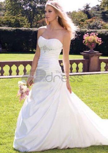 Abiti da Sposa Senza Spalline-Affascinante principessa uno abiti da sposa senza spalline spalla