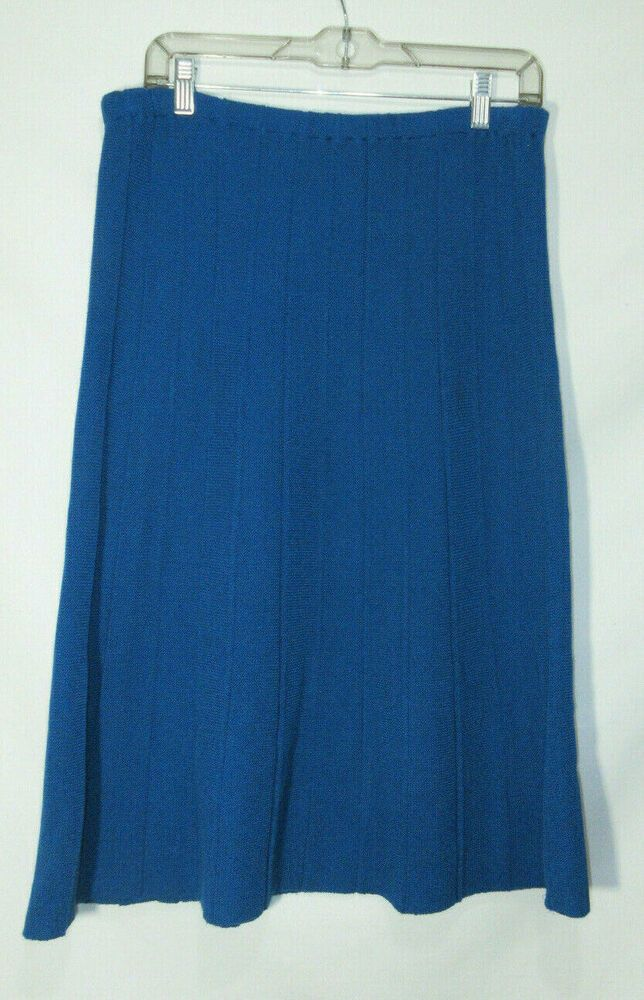 de612fe2f Vintage Philippe Marqes Designer Pleated Knit Stretch Waist Knee Length  Skirt #PhilippeMarques