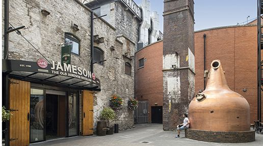 Old Jameson Distillery. North Dublin tourist attractions collaborate to form the city's DNA trail.