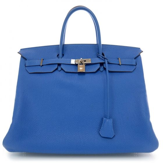 Is it possible not to come close to shedding a tear when you see this one? HERMES Togo Birkin 40 in Mykonos Blue.