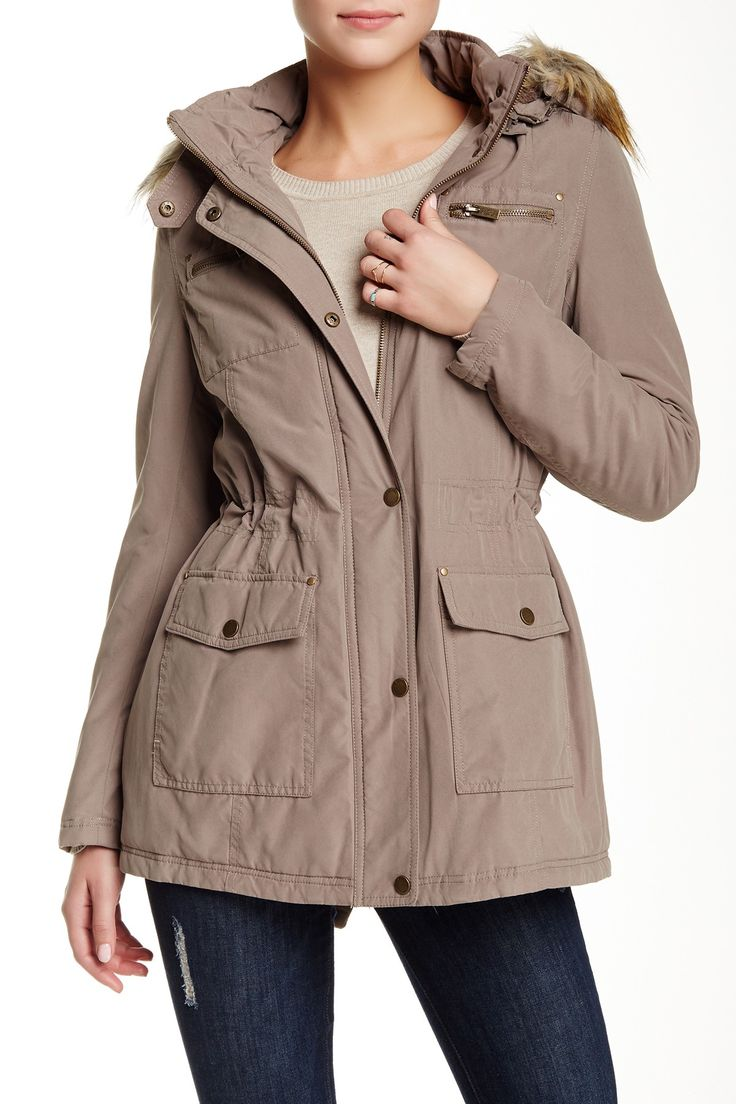 Rachel by Rachel Roy   Parka with Removable Faux Fur Trimmed Hoodie   Nordstrom Rack Sponsored by Nordstrom Rack.