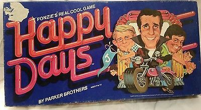 Vintage board game 1976 Fonzie's real cool game Happy Days by parker brothers