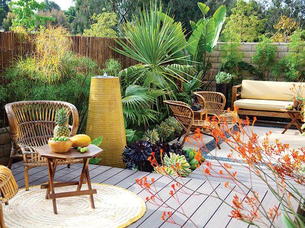 44 best images about concrete patio designs on pinterest for Low maintenance deck plants