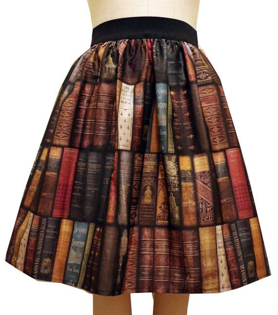 Bookcase Midi Full Skirt by GoFollowRabbits on Etsy