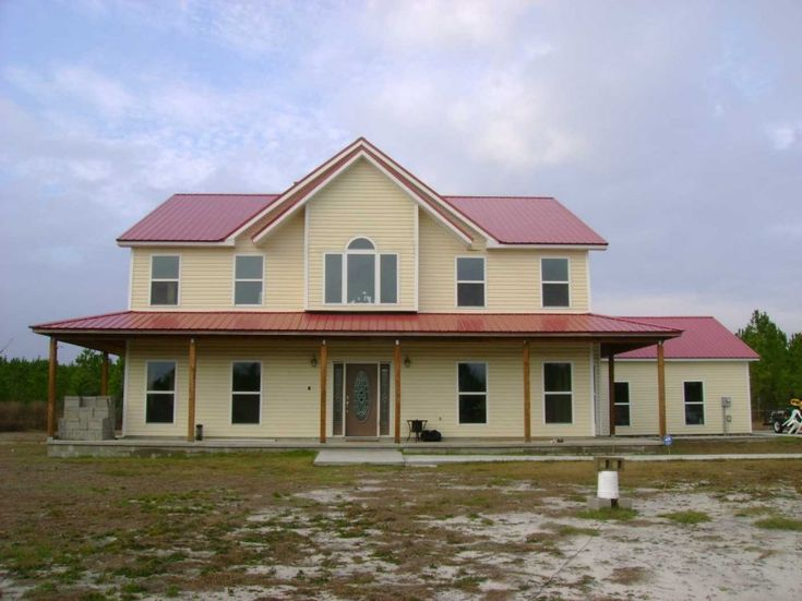 Wonderful Icf Home Plans Soft Amber Wall Red Roof Drought Land With Wooden  Wall Exterior In