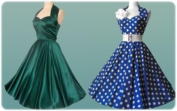sukienki z lat 50 niebieska - Szukaj w Google