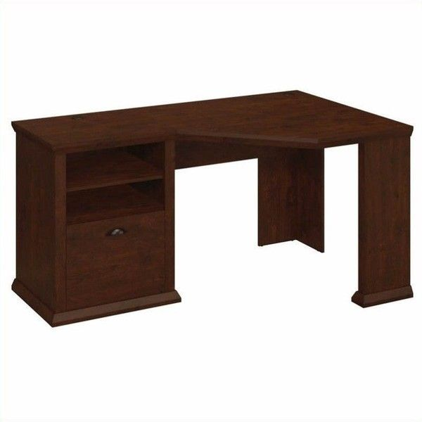 Bush Yorktown 60W Corner Desk 13770 RUB Liked On Polyvore Featuring Home