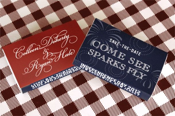 July 4th Wedding  Save the Date  Wedding Ideas  July
