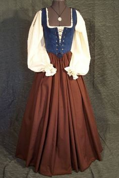 Renaissance Faire Maiden Wench Bodice Dress por thewencheswardrobe