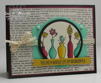 Stampin Up Vivid Vases card colored with Blendabilities markers