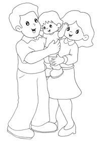 Resultado De Imagen Para La Familia Animada Para Colorear Dibujo