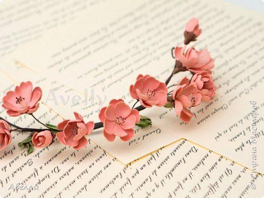 Мастер-класс Лепка Мастер-класс Венок с цветами персика из фоамирана Фарфор холодный Фоамиран фом фото 1