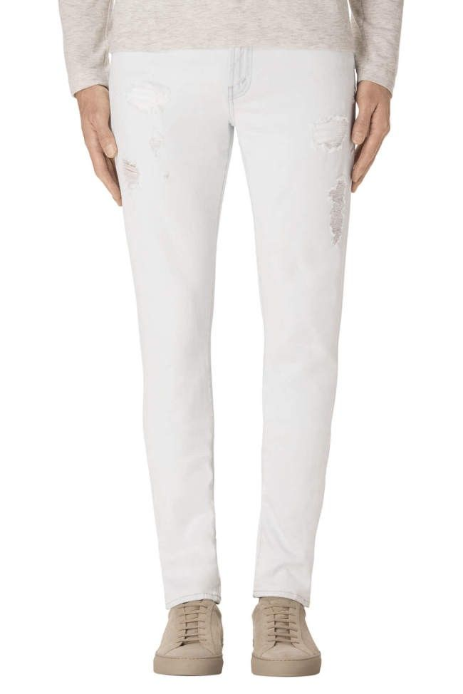 J BRAND Mick Skinny Fit In Aquilae. #jbrand #cloth #