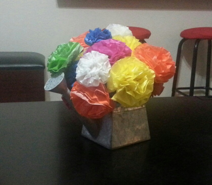 Happy bouquet of paper flowers