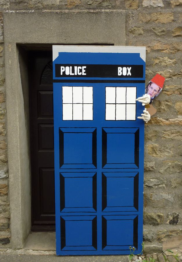 Dr Who drops in to check out the festival.