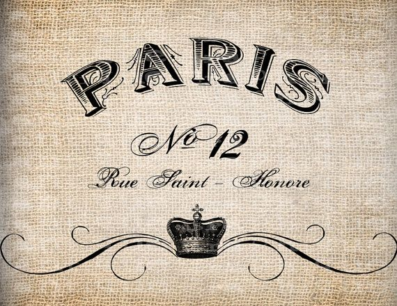 Antiguo francés corona florecer Paris Francia ilustración Digital descargar Papercrafts, transferencia, almohadas, etc. arpillera No 3753