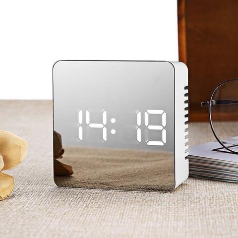 Luxury Mirror Alarm Clock in 2019 | Home Decor | Led alarm clock ...