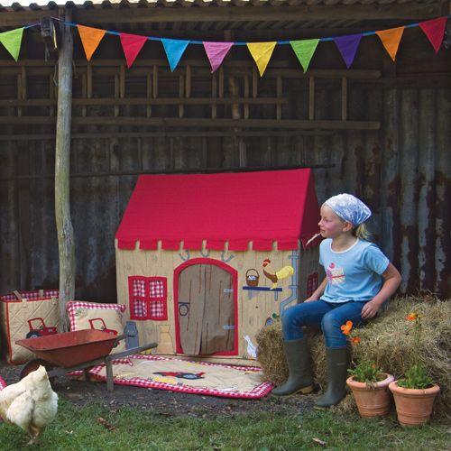Tente de jeu cabane en coton pour enfant Ferme