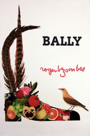 Bally (bird), 1980 - original vintage poster by Roger Bezombes listed on AntikBar.co.uk