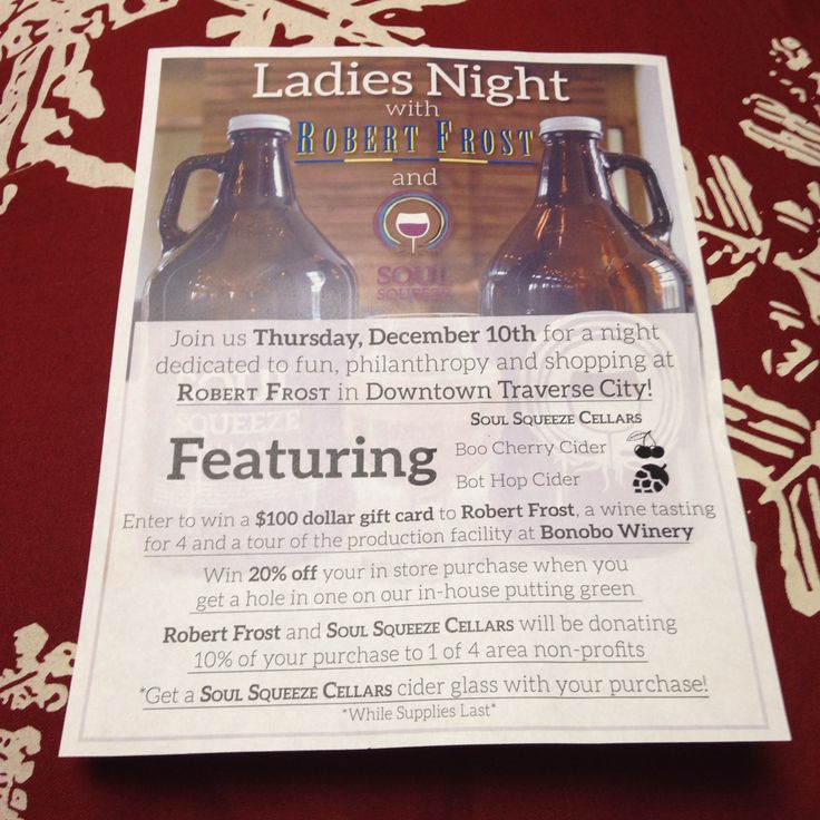 Another #holidayparty #ladiesnight #downtowntraversecity #tcmi Come join the fun THIS Thursday- December 10th for a chance to win some cool stuff! #hardcider brought to you by #soulsqueezecellars @bonobowinery
