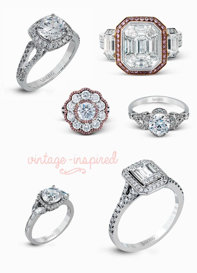 Simon G Vintage Inspired Rings
