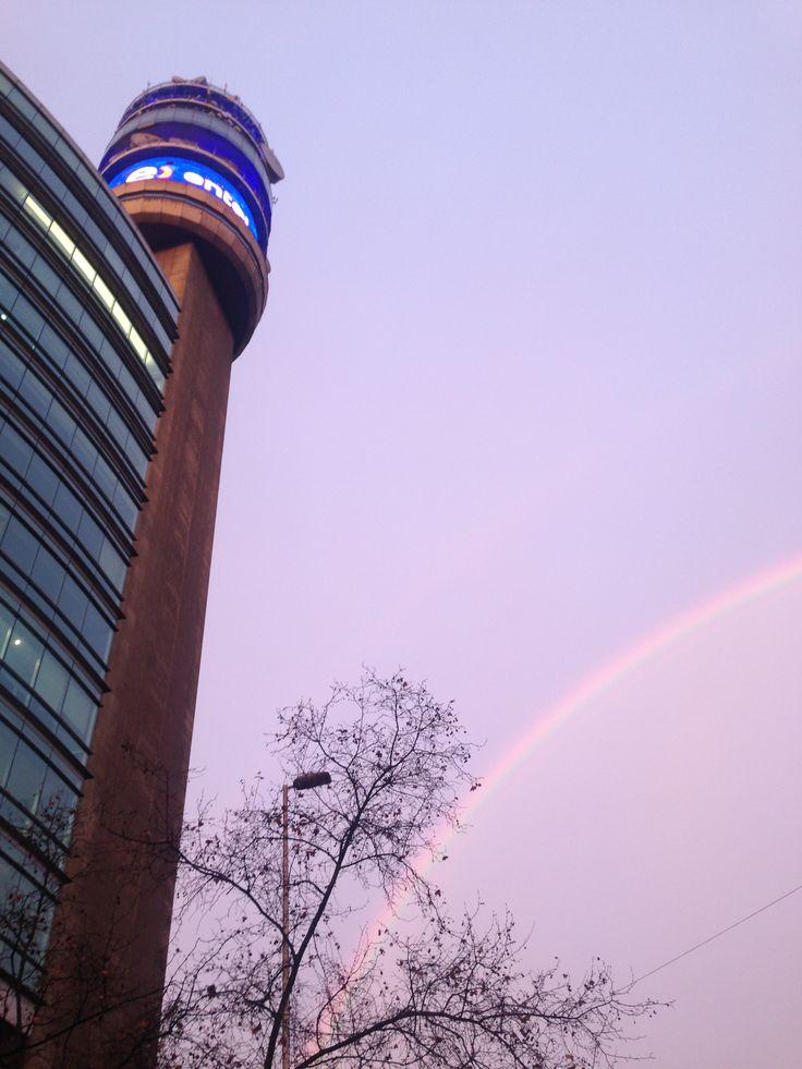 Rainbow #chile #santiago #rainbow