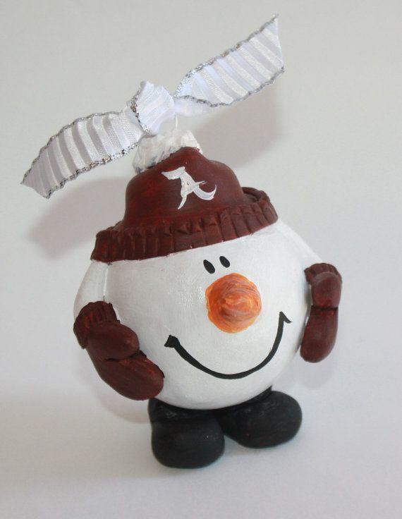 Snow Man Alabama Christmas ornament teacher by TadpoleandLillies