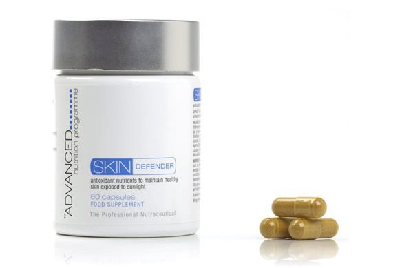 Take the Advanced Nutrition Programme Skin Defender supplement every day to support your topical sunscreen and increases the skin's protection against UV rays.