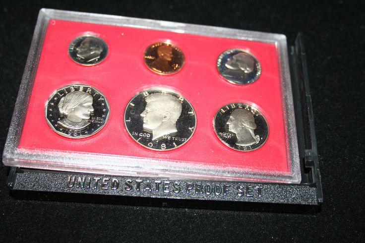 #coins 1981,US Coin Proof Set,Kennedy Half Dollar,SBA Dollar,BirthYear,Free Shipping,73 please retweet