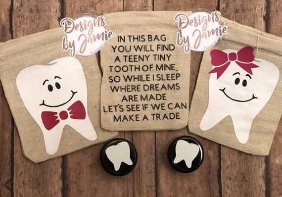Personalised Children/'s Tooth Fairy Bag Ideal Gift