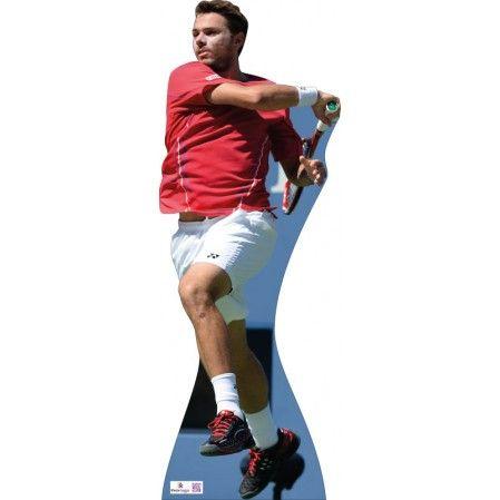 Stan Wawrinka Cardboard Cutout 458  Height: 180cms approx   Grand Slam Tennis Player from Switzerland