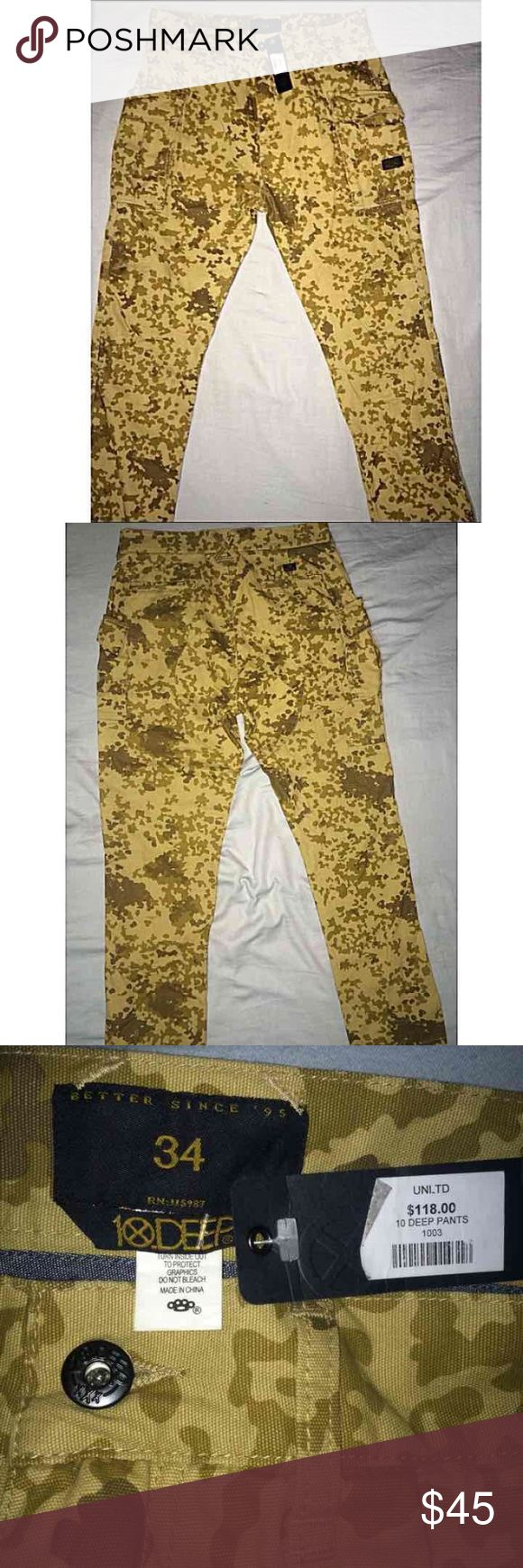 10 Deep Camo Skinny Jeans NWT •10 Deep Camo Skinny Pants NWT •Size 34 •NEVER WORN •Check out my other items for great deals ! (shoes shirts jackets pants etc..) 10.Deep Jeans Skinny