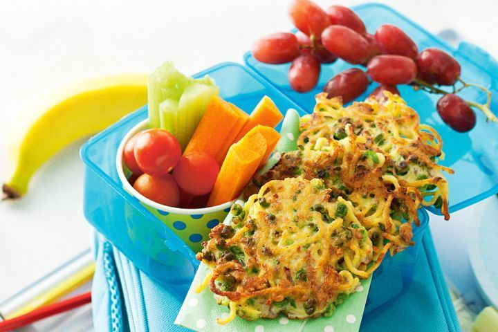 Pea and noodle fritters