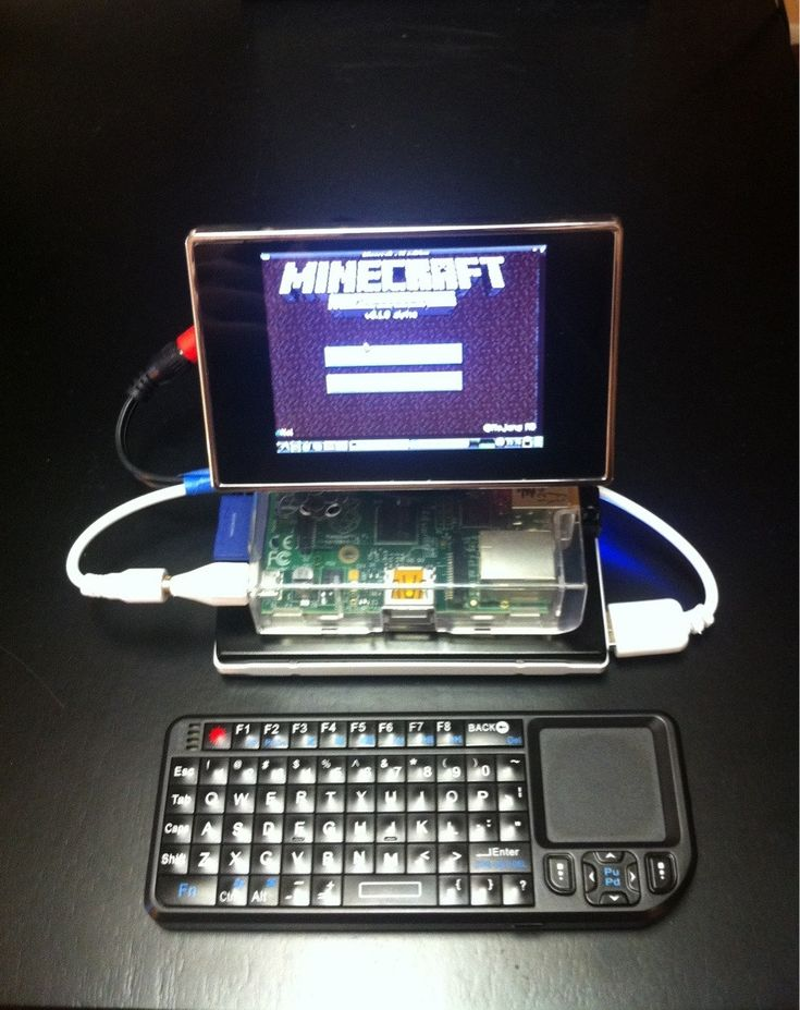 Portable minecraft pi it 39 s the raspberry pi with a clear for Mobile porta pc