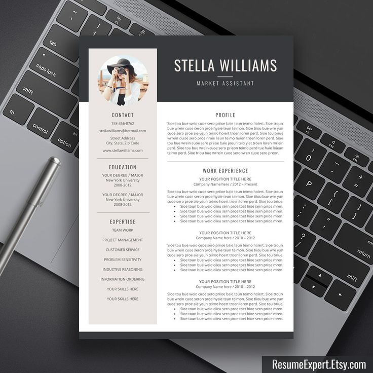 resume template with picture free download photo insert acting modern