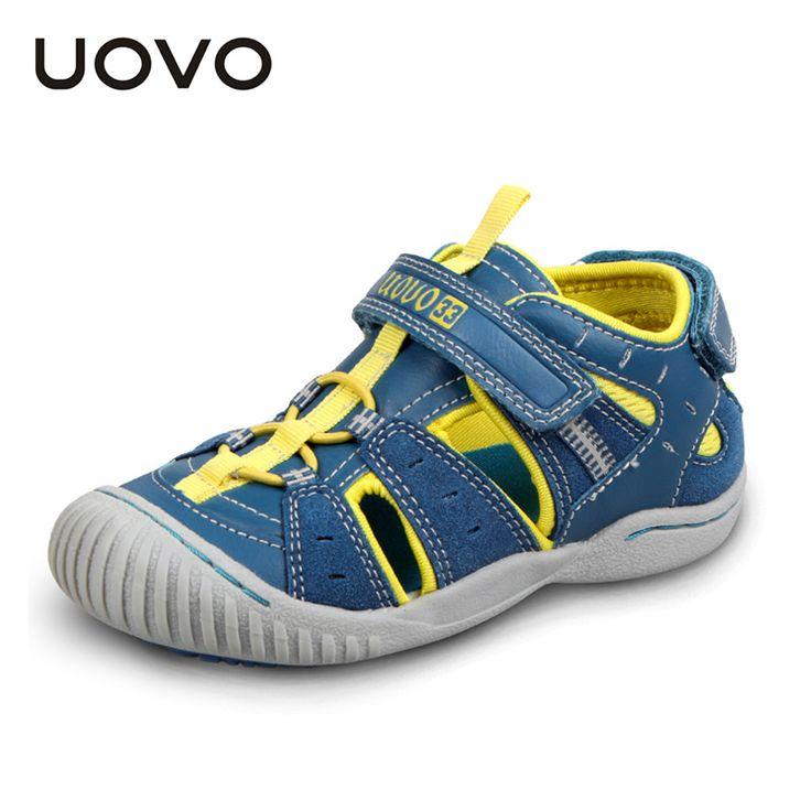Uovo sandal kaki karet tertutup, anak-anak musim panas sandal anak laki-laki dan perempuan fashion sandal untuk anak-anak ninas sandalias 4-7 tahun