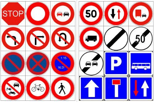 """Cette semaine un petit jeu d'initiation au Code de la route, avec un """"apprentissage"""" des différents panneaux. Tous ne sont pas représentés d..."""