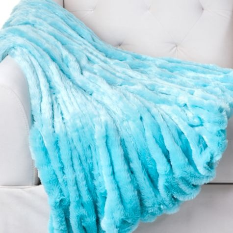 Lazo Throw - Aquamarine from Z Gallerie $59.95.  This would look great folded  at the end of the bed keeping with the color scheme. #zgallerie