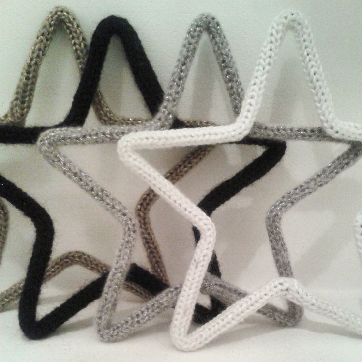 stars black white silver gold  handmade french knitted  Now for sale www.isaenbila.nl