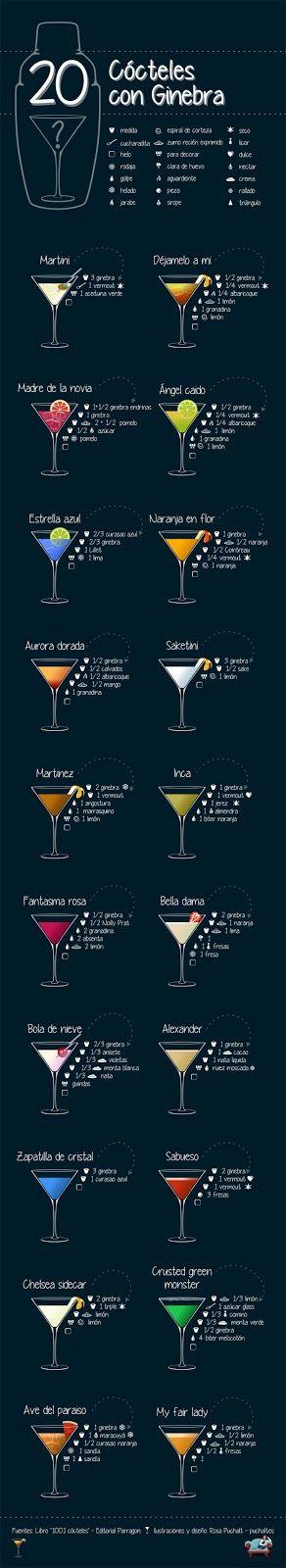 20 Recetas de Cocktails con Gin