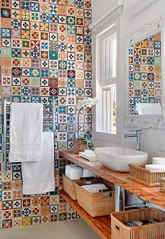 imagenes de combinaciones de azulejos para baños - Buscar con Google