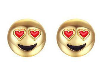 LOVE What I See Emoji Stud Earrings