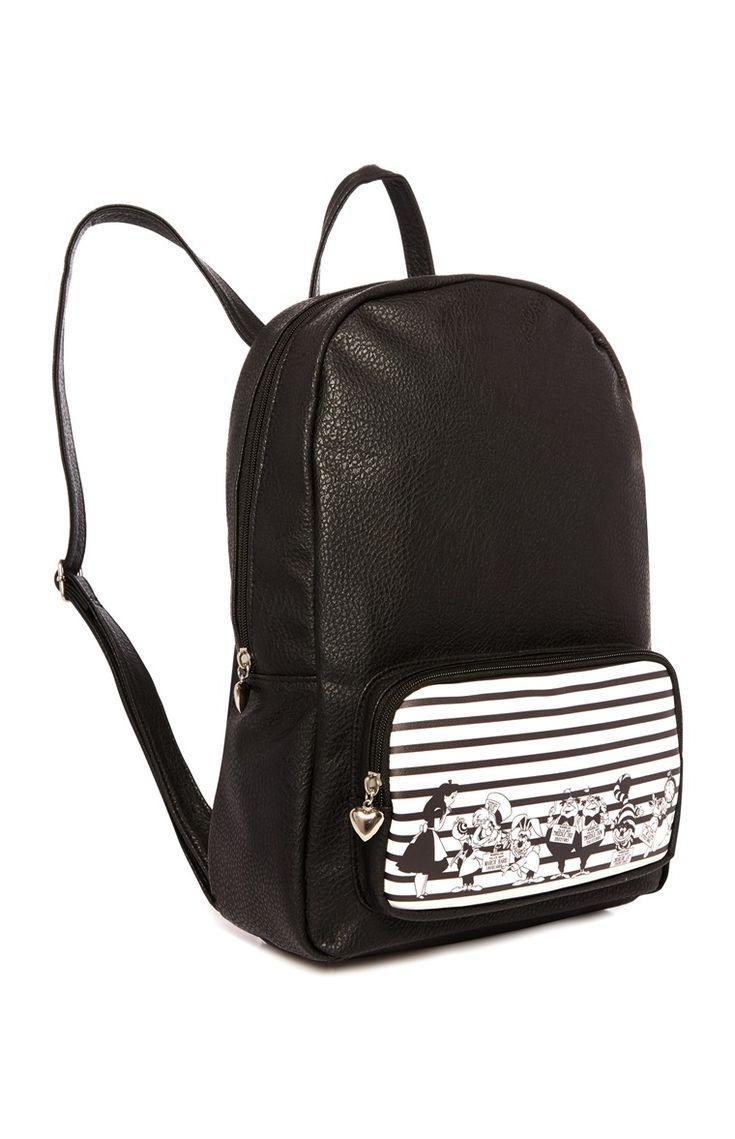 Primark - Black Alice In Wonderland Backpack - £10
