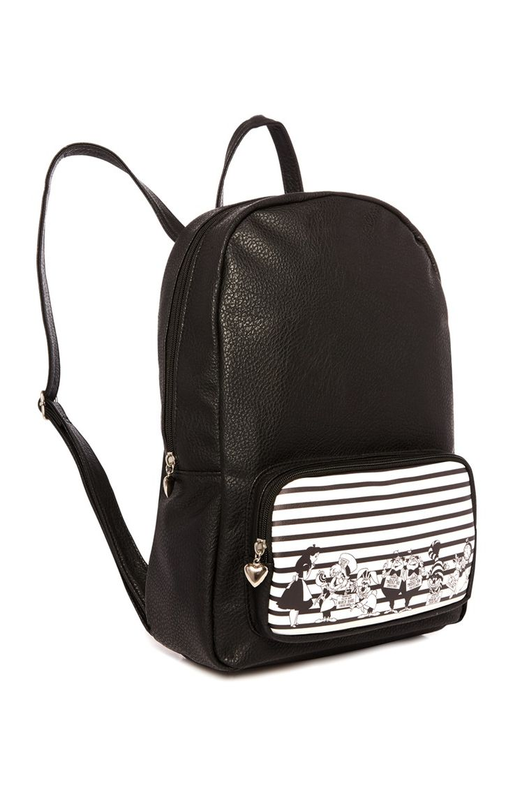 Primark - Black Alice In Wonderland Backpack - £10