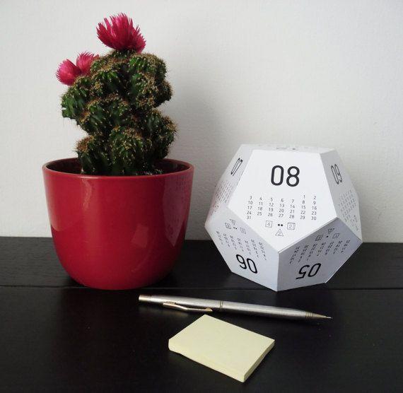 3D multipurpose desk calendar - paper calendar - award winning designer calendar