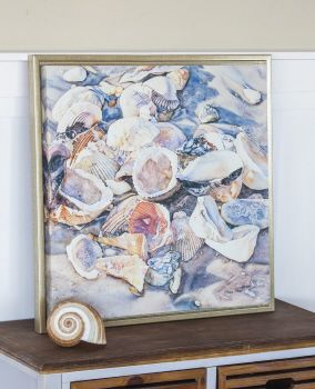 AM Glow - framed wall art  24x24
